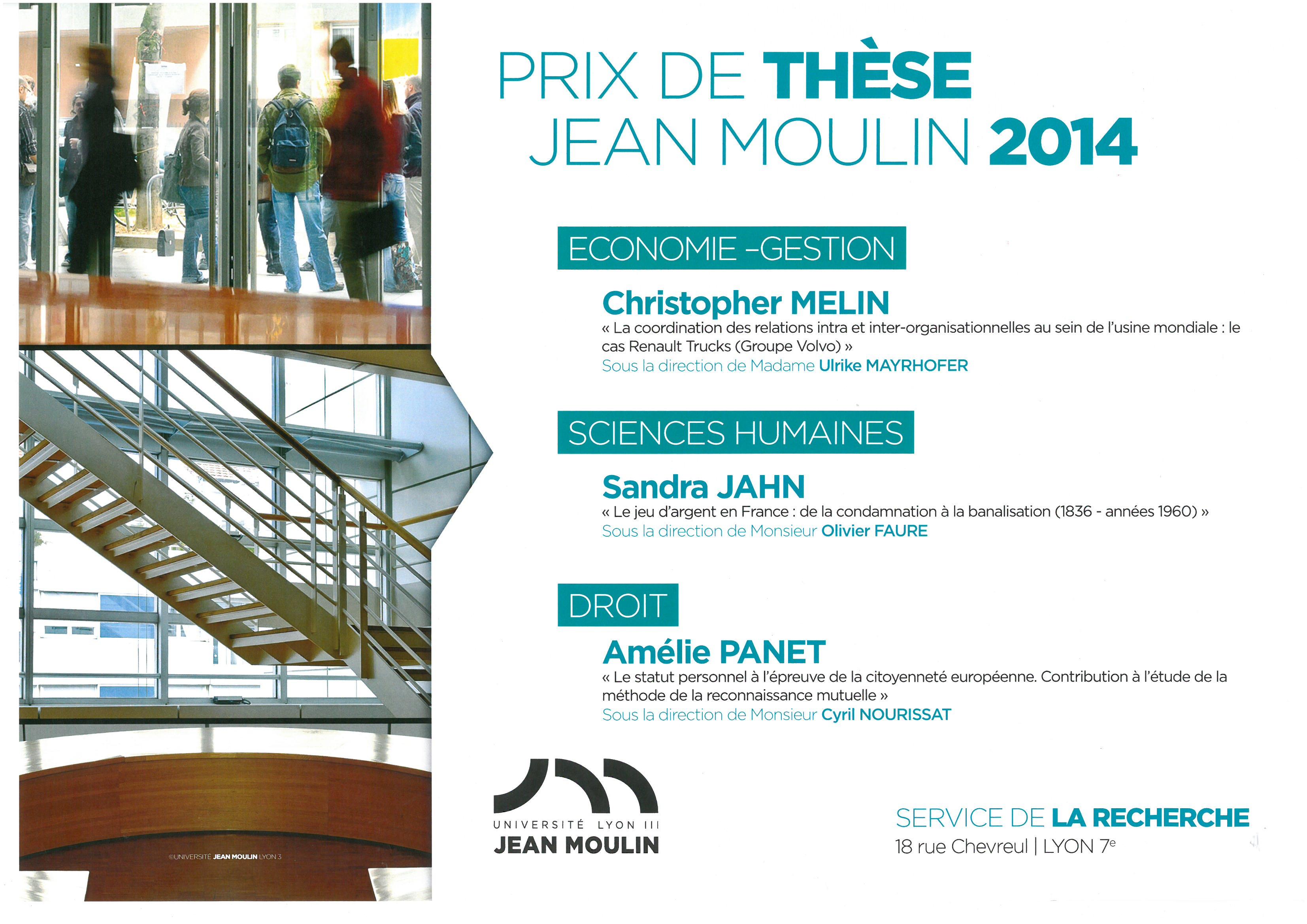 Affiche prix de thèse 2014
