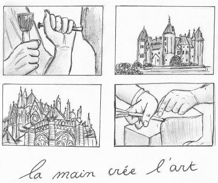 Ophélie PEYRARD, La main crée l'art