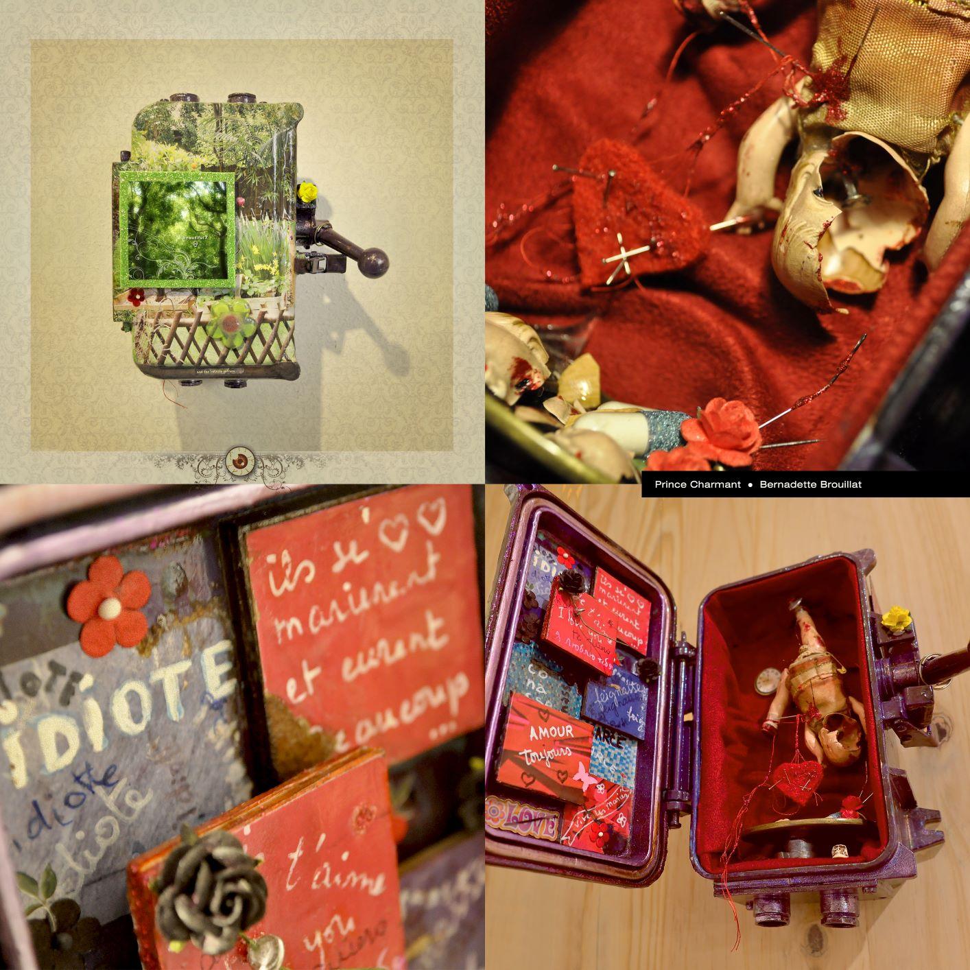 Maison de Poupées N° 4 PRINCE CHARMANT. Conception : Bernadette BROUILLAT Réalisation : Bernadette BROUILLAT et Ahtzic SILIS