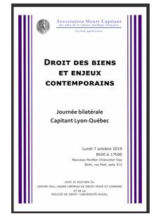 Programme Lyon Quebec