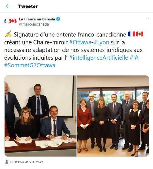 Twit La France au Canada