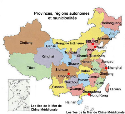 carte république de Chine