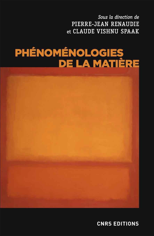 Phénoménologies de la matière