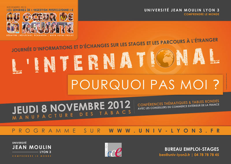 Affiche de la journée l'International... - Lyon 3