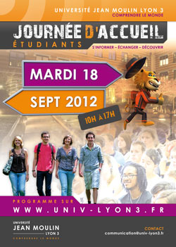 Affiche journée d'accueil 2012-Université Lyon 3
