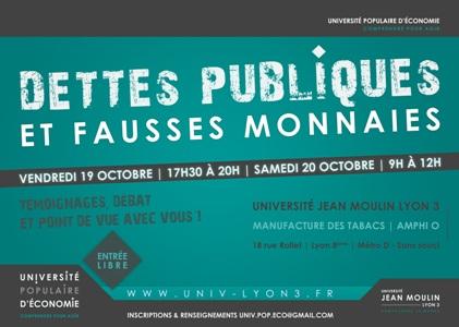 Affiche Université Populaire d'économie