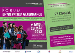Visuel Forum Entreprises Alternance - Lyon 3