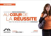 Visuel Semaines de l'insertion professionnelle - Université Jean Moulin Lyon 3