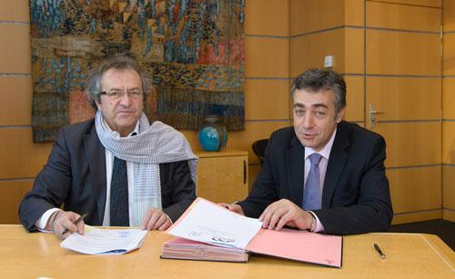 Jacques Comby et Loïc Maherault