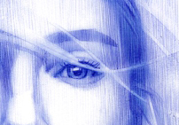 Nuances de bleu   Illustration de Dominique SIMON