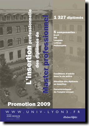 L'insertion professionnelle des dipl�m�s de Master professionel - Promotion 2009