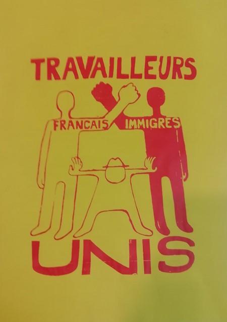 Affiche sérigraphie Droits des Travailleurs