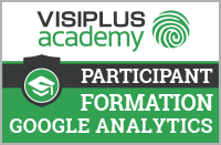 Badge Visiplus academy Formation Google Analytics