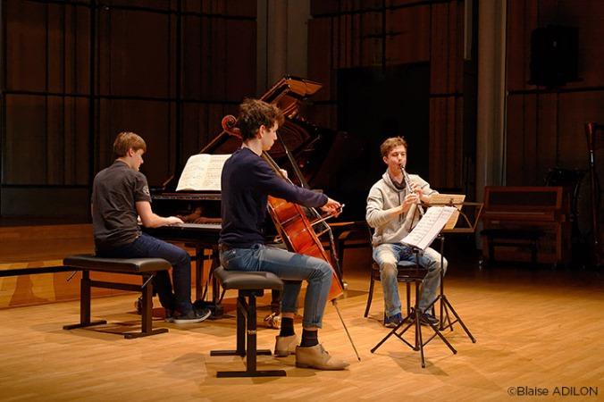 Trio clarinette, piano, violoncelle ©Blaise ADILON