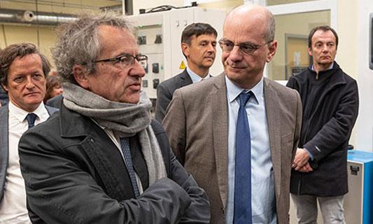 Jacques Comby et Jean-Michel Blanquer
